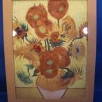 """Keramiek tegel zonnebloemen """"Van Gogh"""""""