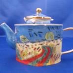 """Theepotje 3 porcelein """"Van Gogh"""""""