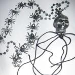Spinnenketting met doodskop